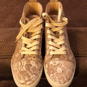 Christian Louboutin floral hi top sneakers
